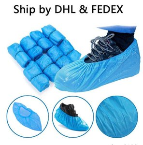 Blue Shoe Covers Plastic Waterproof Disposable Shoe Cover Universal Blue Cleaning Overshoes Rain Day Carpet Floor Protector HWC4043