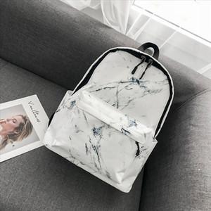 Backpack Fashion Boys Girls Marble Pattern Print Preppy Rucksack Canvas School Bags Travel Shoulder Bag mochilas mujer H10