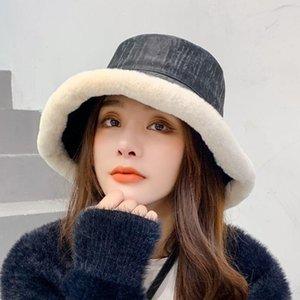 Chapeau d'hiver pour femmes Version coréenne Chapeaux de pêcheur Chapeaux d'agneau chaud Chapeau à fourrure Soft Filles Sweet Girls Hiver Heavy Protection Chapeaux