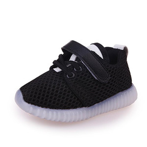 Boys Girls Flashing Light Casual Kids Shoes For Baby Girl LED Sneaker Children Lightweight Luminous Spring Flashing Mesh Shoes
