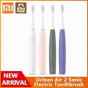 Xiaomi Youpin Oclean Air 2 Sonic Электрическая зубная щетка IPX7 Водонепроницаемая быстрая Зарядка 3 Режимы для чистки Чистки Смартная зубная щетка для взрослых