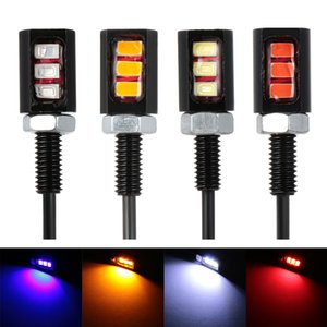 2PCs 12V 3LED Universal Car Motorcycle License Number Plate Screw Bolt Light Bulb Lamp Motorbike Styling Tools Accessories