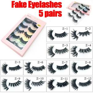 5 Pairs 15-25mm 3D Faux Mink Hair Cross False Eyelashes Thick Long Eye Lashes Handmade Eye Makeup Beauty Cosmetic Tools
