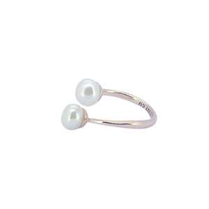 UUE Jewelry new fashion design beautiful Pearl rose gold over copper rings for elegant women with top quality