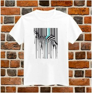Dripping Zebra Art Print Tshirt For Women Cotton Casual Shirt White Top Tees Big Size S XXXL Drop Ship TZ200 650