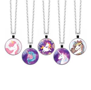 Unicorn Pendants Time Gemstone White K Glass DIY Necklace Boys Girls Originality Europe America Jewelry Ornaments New Pattern 2 2nx M2