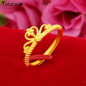 20ss fashion wedding ladies party simple design gold-plated ring 5 styles different proposal ring adjustable opening gold ring jewelry