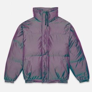 Fear of God Essentials Iridescent Puffer Jacket FOG Casual Oversized Puffers Autumn Winter Outerwear Jackets Men Women Hip Hop Streetwear