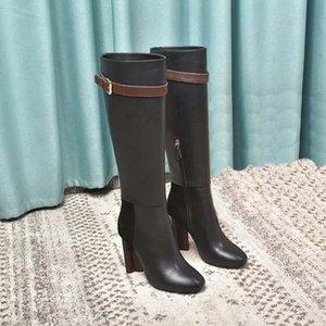 İlkbahar Sonbahar Örme Elastik Çizmeler Mektup Kalın Topuklu Seksi Kadın Ayakkabı Yüksek Topuk Çizmeler Moda Çorap Çizmeler Bayan Yüksek Topuklu ayakkabı02 QL036