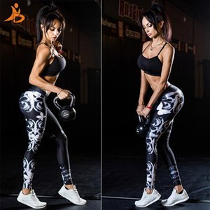YD New Girls Printed Long Yoga Pants Women Sports Trousers Skinny Sexy Fitness Tight Leggings Workout Compression Running Pants