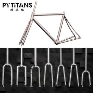 Factory Direct Sale Wholesale Price Titanium Alloy Bicycle Bike Fork Fit Titanium MTB Bike Frame Road Bike Frame Free Shipping