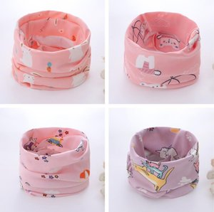 Kids Ring Scarf Neck Gaiter Face Cover Cotton Reusable Boys Girls Cartoon Balaclava Bandana for Running Hiking Sports