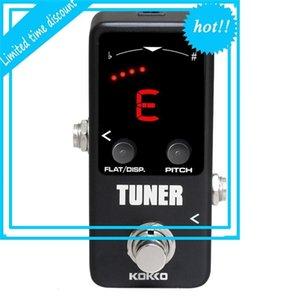 Kokko Mini Pedal Pedal Dual Modi Modi Tunner Alto Precisión LED Monitor Sintonizadores Piezas de guitarra negra Accesorios