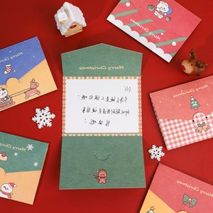 Christmas Card Cartoon Merry Christmas Paper Envelope with Message Card Greeting Card Letter Stationary Gift Wholesale