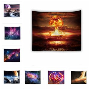 Amazing Night Star Tapestry 3D Printed Wall Hanging Picture Bohemian Beach Towel Table Cloth Blankets Warm soft starry cosmic blanket YHM92-