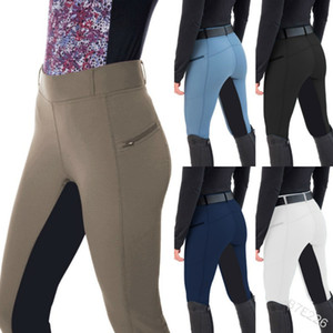 Women's Horse Riding Pants Patchwork Archery Mountaineering Camping Leggings Skinny Mid-rise Pants Q1210
