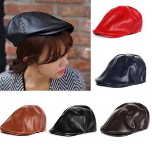 PADEGAO detective Visors women Agent Berets Unisex Ivy Caps Casquette Homme Visor retrol Newsboy Caps artist leather Berets cap