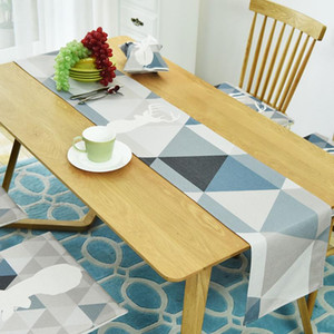 100% Cotton Table Runner High Quality Table Runner Geometry Nordic Table Decoration For Home Party Wedding Christmas Decoration