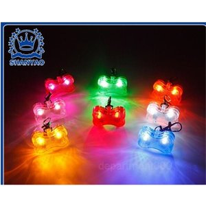 Party 4.8*3*1.5cm 6 Colors Dog Tag Safety LED Luminous Pendant Ornaments Glowing Pet Supplies Pets Tags