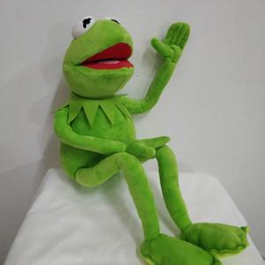 무료 배송 45cm 만화 Muppets Kermit 개구리 플러시 장난감 어린이 생일 선물을위한 소프트 보이 인형 Y200111