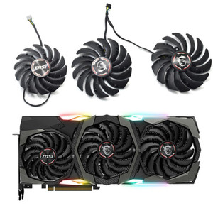 Novo PLD09210B12HH PLD10010B12HH RTX 2080 Graphic Cooler Ventilador para MSI GeForce RTX 2080 2080TI 2070 Super Gaming x Trio Video Card