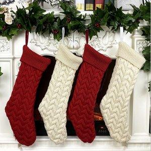 """Strick Hängen Weihnachtsstrümpfe Große Größe 21 """"Klassische Gestrickte Weihnachten Stocking Neues Jahr Weihnachtsmann Weihnachten für Party Dekoration CCA2496"""