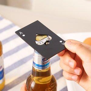 Poker Card Opener Stainless Steel Beer Openers Bar Tools Credit Card Soda Beer Bottle Cap Opener Gifts Kitchen Tools RRA2809