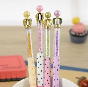 Diamond Ballpoint Pen Crystal Bridal Wedding Guest Signature Pen Charms Ball Couple Fashion Jewelry GD1025