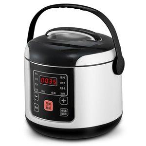 220 فولت طنجرة الأرز الكهربائية الأجهزة الغداء مربع بطيئة طباخ حار العزل الساخن 1.2L البسيطة الأرز وعاء الأرز 1-2 الناس طنجرة الأرز T200710