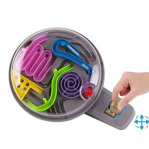 3D Sihirli Akıl Topu Mermer Bulmaca Oyunu Perplexus Manyetik Topları IQ Denge Oyuncak, Eğitim Klasik Oyuncaklar Kolu Labirent Ball Y200413