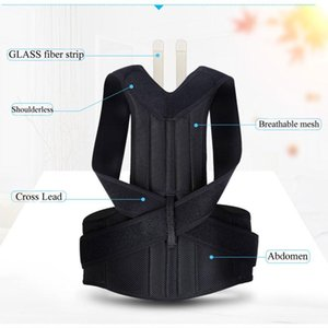 Back Posture Corrector Waist Shoulder Lumbar Brace Support Belt Adjustable Adult Scoliosis Corrector Girdle Trainer Unisex