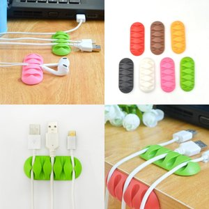 Fünf Löcher Thread Management Gerät Reine Farbe Home Desktop Thread Schnalle Multicolor Fixing Clamp Heißer Verkauf 0 85lg J2