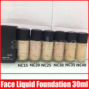 Face Makeup Fix Fluid Foundation Liquid 30ML Facial Highlighters Liquid Concealer NC 6 Colors