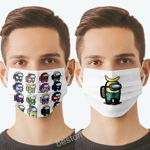 Tra gli Stati Uniti Maschera di gioco Designer Fashion Facemasks Bambino Victory Victory Game Maschera per bambini Maschera stampata Maschere stampabili Maschera di cotone per adulti lavabile 2021