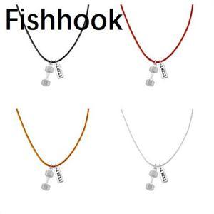 FISHHOOK SPORTS FITNESS Je ferai le collier pendentifs haltères