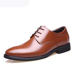 2020 Oxford Chaussures pour hommes Formelle Hommes Robe Chaussures Cuir Noir Pêche de luxe Chaussures Mariage Men Sapato Social Masculino