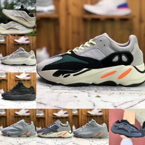 New Kanye 700 V3 Mens Sports Shoes West V2 Azael Alvah Azareth Utility Black Wave Runner MNVN Solid Grey Inertia Womens Designers Sneakers