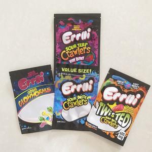Novo 420 E Edibles Embalagens Mylar Mylar Bags para Gum Sour Brite Crawlers Sourp Crawlers Muito Berry Sour Twist Clow Worms Gum Edibles Sacos