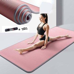 10mm 15mm Yoga Mat Nrb Kaymaz Paspaslar Fitness Için Ekstra Kalın Pilates Spor Egzersiz Pedleri Halı Mat Bandajlar Ile Yoga Pad XA146 + A LJ201218