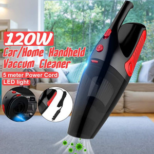 5000Pa Mini Cordless Car Vacuum Cleaner 12V 120W Home Auto Handheld Wet Dry Dual Use Portable HEPA Filter Vacuums with LED Light