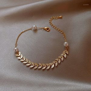 Avebien ins moda pulseira para mulheres presentes para o ano novo jóias 2021 trigo imitação pérolas braceletes menina bracelete1