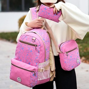 three-piece Luggage& Bag Casual Travel Pack Women Canvas Backpack Schoolbag School Bag Canvas For girl Teenagers Rucksack June17