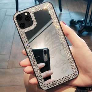 Women Rhinestone Diamond Mirror Phone Case For iPhone 11 Pro Max X XR XS 12 Case Luxury For iPhone 8 Plus Makeup Cover
