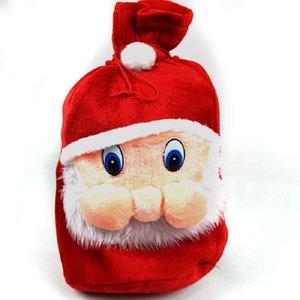 Christmas decorations old man's backpack gift bag high grade velvet gift bag large bundle mouth Candy Bag