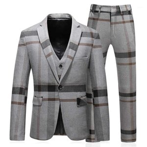2020 Men Suits For Wedding Slim Fit Mariage Formal Designers Men Clothes S-5XL Mens Suits With Pants And Vests SD021