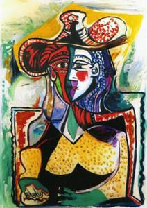 Pablo Picasso Retrato de una mujer Decoración para el hogar pintado a mano HD Imprimir pintura al óleo sobre lienzo Arte de la pared Imágenes de lienzo 201216