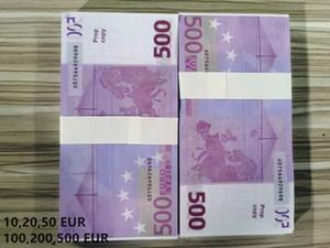 Film Prop Banknote Dollar Donnée Donnée Faux Money Enfants Cadeau Plein Dollar Bills Papier Faux Faux Billette Euro 100pcs / Pack 11
