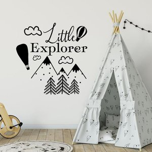 Little Explorer Wall Decal Woodland Nursery Kids Bedroom Baby Room Home Decor Adventure Mountain Art Vinyl Wall Sticker 1799