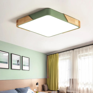 2020 thin led ceiling lights bedroom lamps modern with Color polarizer luminaria lamps child luminaire lampe deco with Wooden