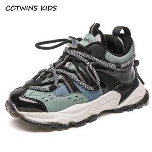 CCTWins Kids Sneakers 2020 Meninas Inverno Moda Casual Running Sports Shoes Meninos Grosso Sola Sneakers Crianças Quentes Sapatos FS3938
